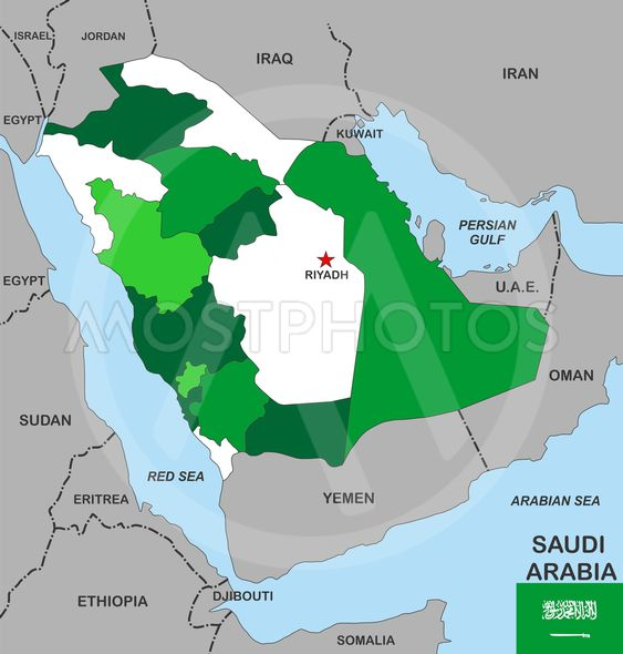 Saudi Arabien Kort Fra Tudor Antonel Adrian Mostphotos