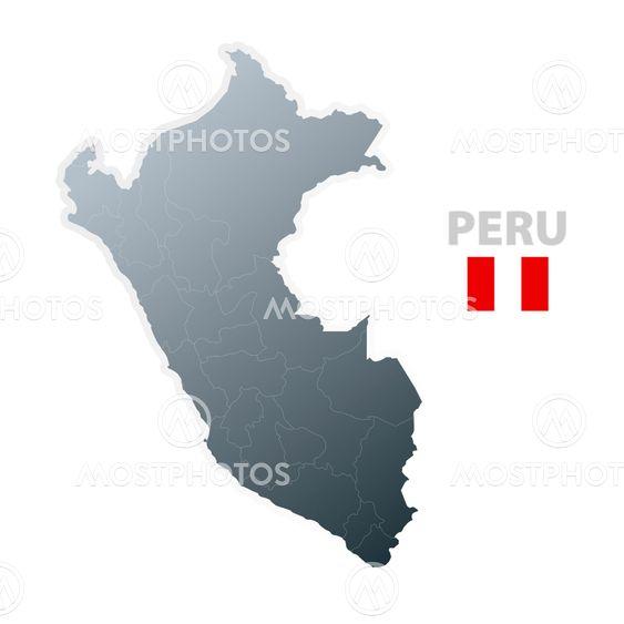 Domen Colja S P N Kuva Peru Kartta Virallisen Lipu Mostphotos