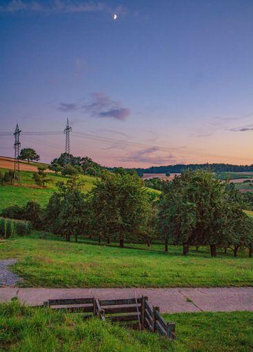 Sunset over German landscape
