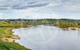 Oka river in Tarusa, Russia