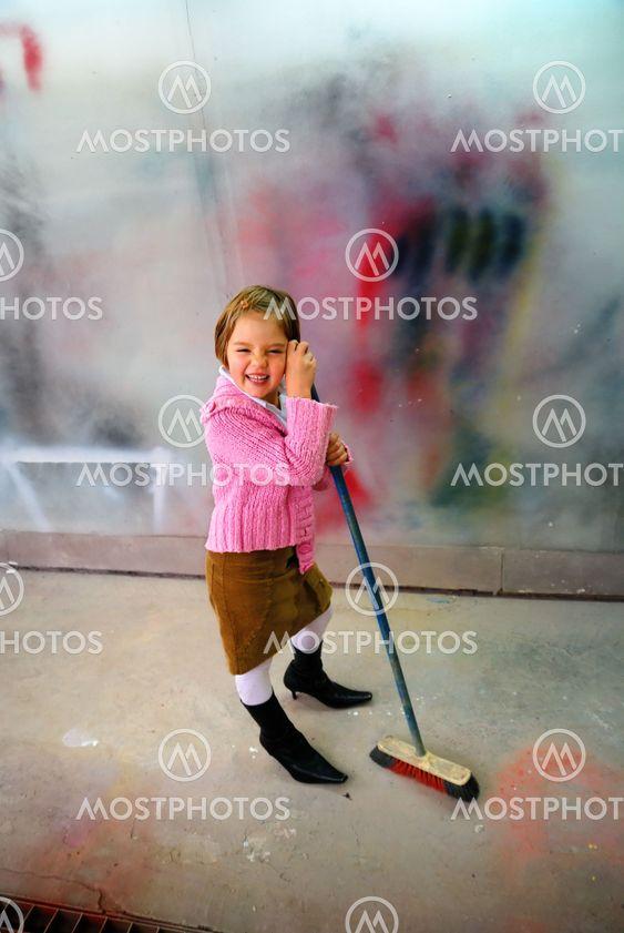 Cute little girl having fun