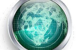 Radar Vector. Africa. Military Abstract Screen Radar. HUD...