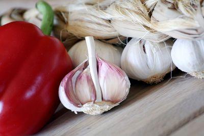 Garlic and pepper