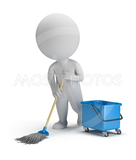 3d small people - sweeper
