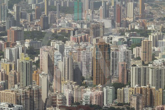 Kowloon side view Hong kong isaland at ICC