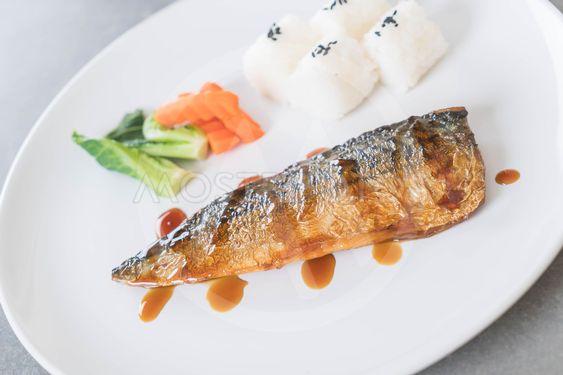 Grilled Saba fish sauce