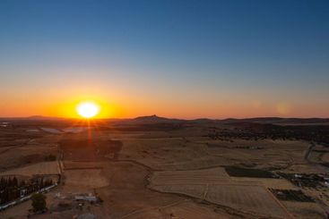 Sunset from the mountain of an Andalusian village