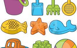 Beach Toys Icons