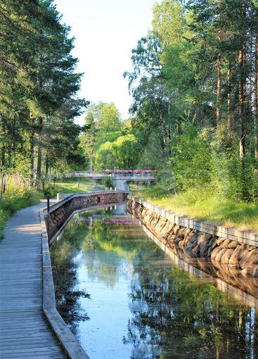 Sommardag vid Lulsundskanalen i Luleå