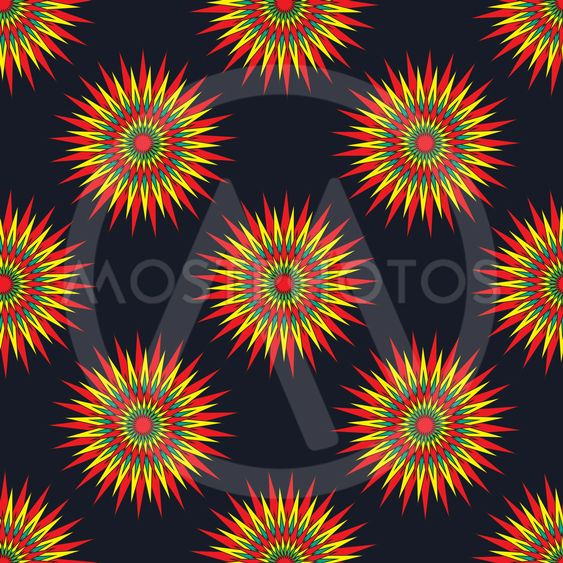 abstract star on dark background seamless vector pattern