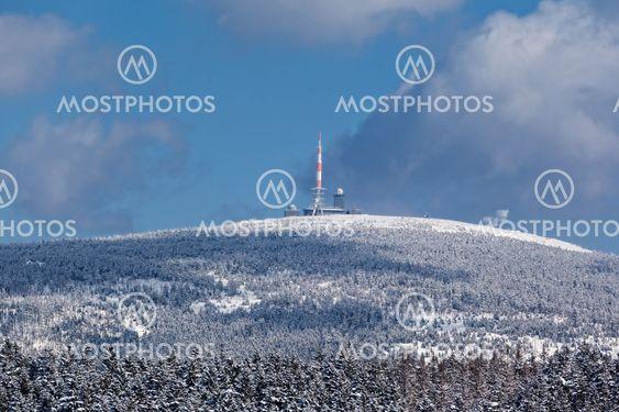 Der Brocken Harz Gipfel im Winter