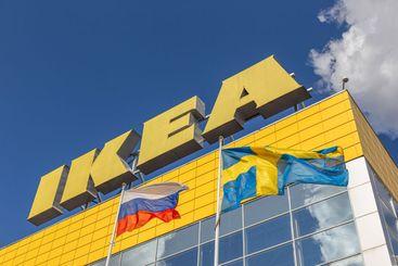 IKEA  logo on facade store