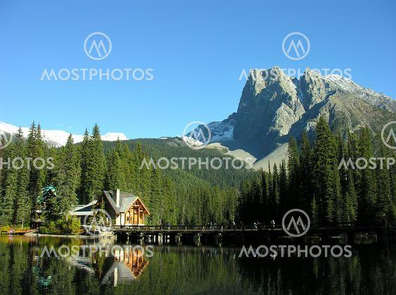 Mount Burgess and Emerald Lake, Yoho National Park, Canada