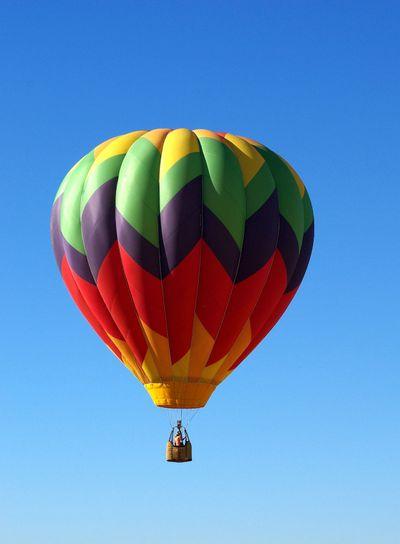 Hot Air Ballon And Clear Sky