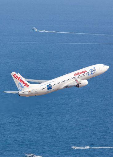 Air Europa Boeing B737-800 airplane aerial photo