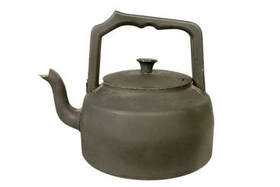 Old black stove kettle