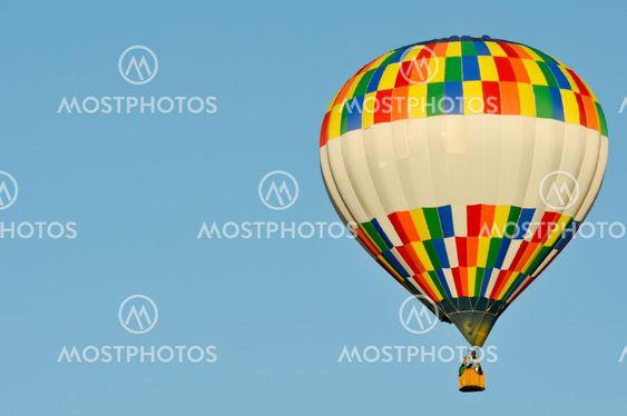 Hot Air Ballon with Copy Space Left