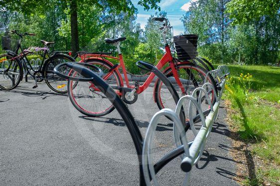 Röd damcykel