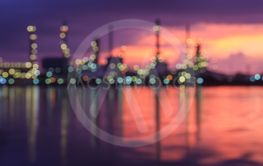 Blurred Oil refinery