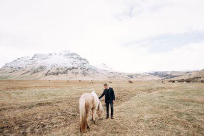 Destination Iceland wedding photo session with Icelandic...
