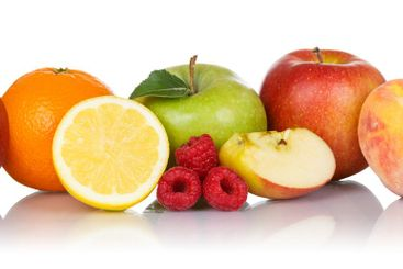 Fruits collection apple apples orange berries grapes...
