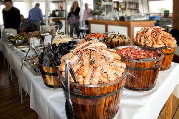 skaldjursbuffé/Seafood buffet