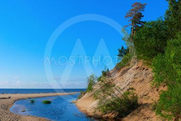 Creek flowing into the Baltic Sea