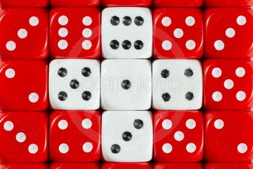 National flag of Switserland in background of dices