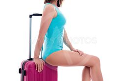 travel and summer vacation concept - young beautiful...