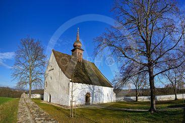 Landscape with a beautiful chapel near castle Veveri....