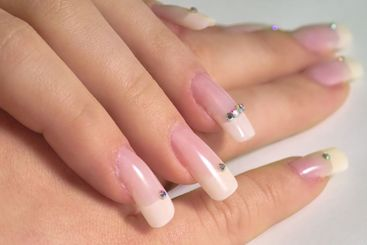 Hands with french manicure