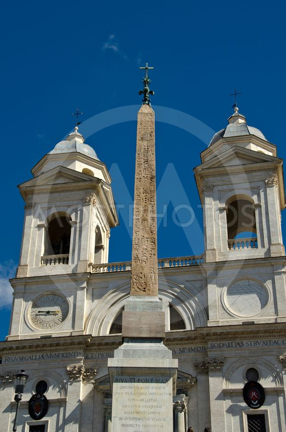 Piazza di Spagna och Trinita' dei Monti i Rom