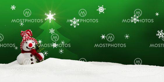 snowman Merry Christmas green