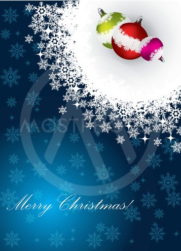 Christmas greeting card with decorations