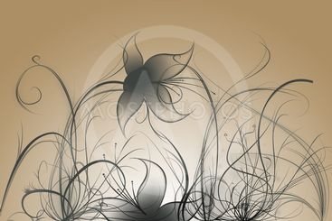Beautiful illustrated flower background design with...