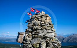 The top of a mountain in Norway