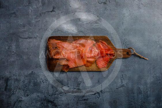Organic smoked salmon from sustainable fishing farm