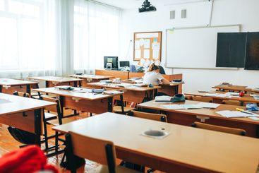 sunny Empty classroom