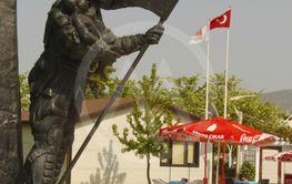 Memorial monument on town square in Fethiye, Mugla, Turkey