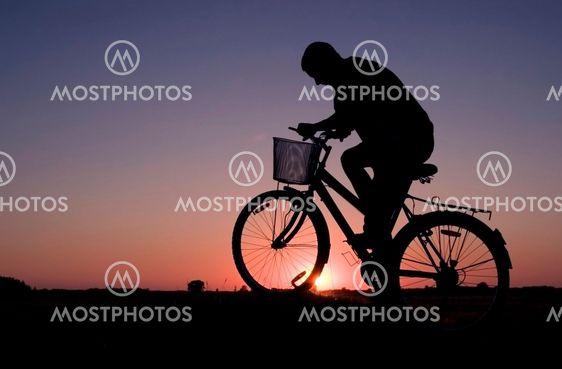 Biker silhuett