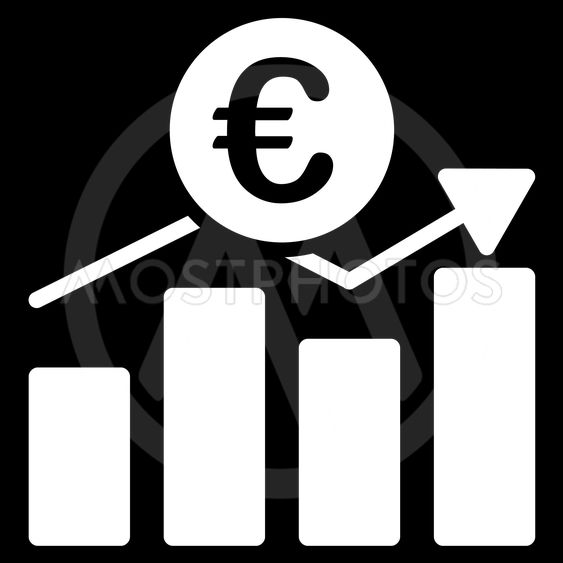Euro Business Chart Flat Vector Icon