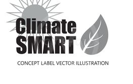 Vektor illustration med text ClimateSMART,