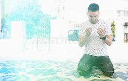 Humble Muslim Man Prayer in Mosque