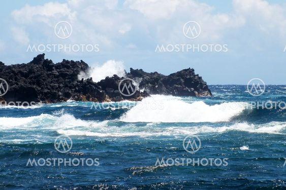 Lavalandskab på øen Big Island i Hawaii