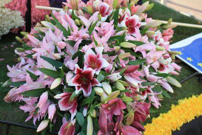 pink tiger lily flower arrangement