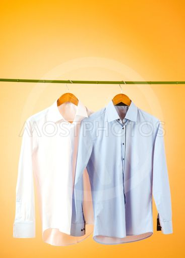 Male shirt against gradient background