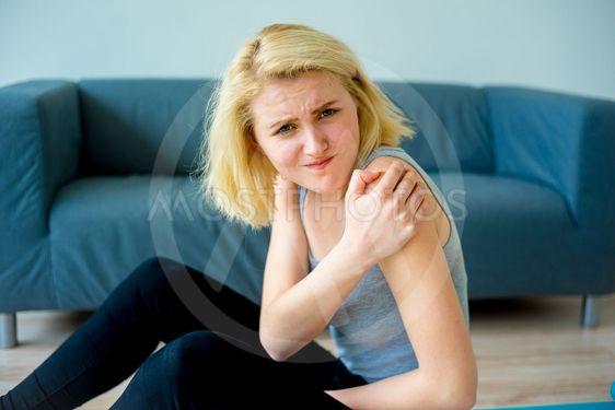 Girl sprained her arm