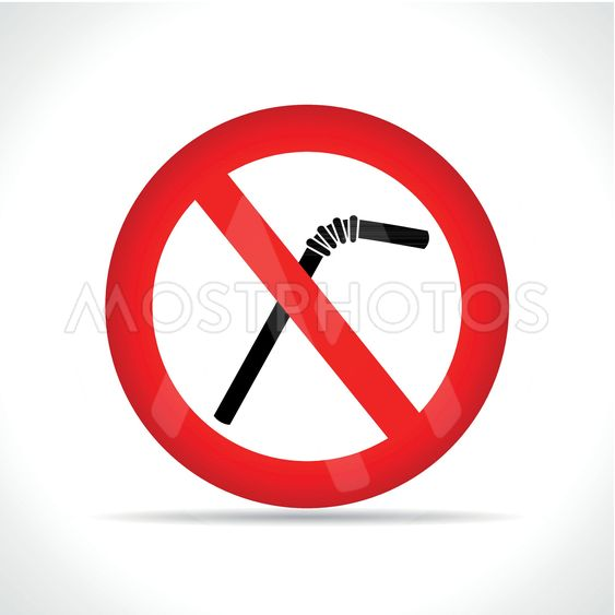no straws circle icon vector