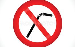no straws circle icon vector