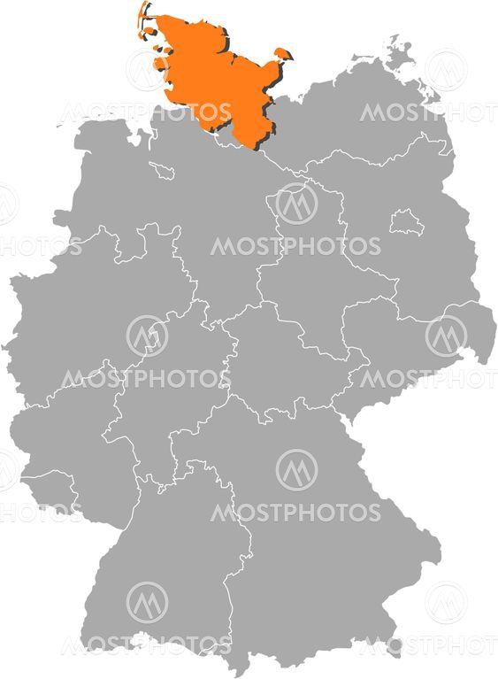 Karta Over Tyskland Schles Av Steffen Hammer Mostphotos
